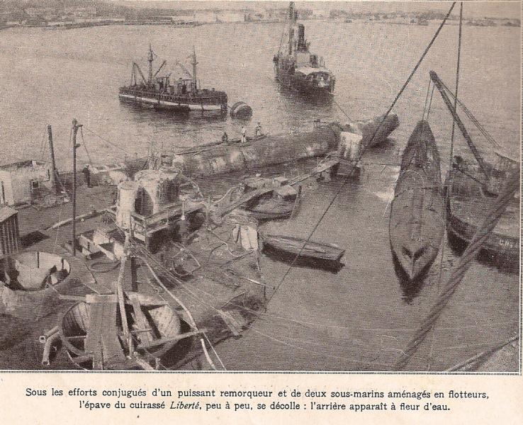 Le 25 septembre 1911 le cuirassé Liberté explosait à Toulon Sc000610
