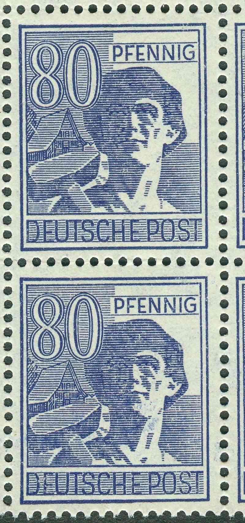 Plattenfehler bei den Ausgaben der Gemeinsch.Ausgaben des all.KR 957_ii10