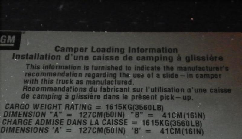 Info Capsule No. 2: Capacité de charge du camion 100_1123