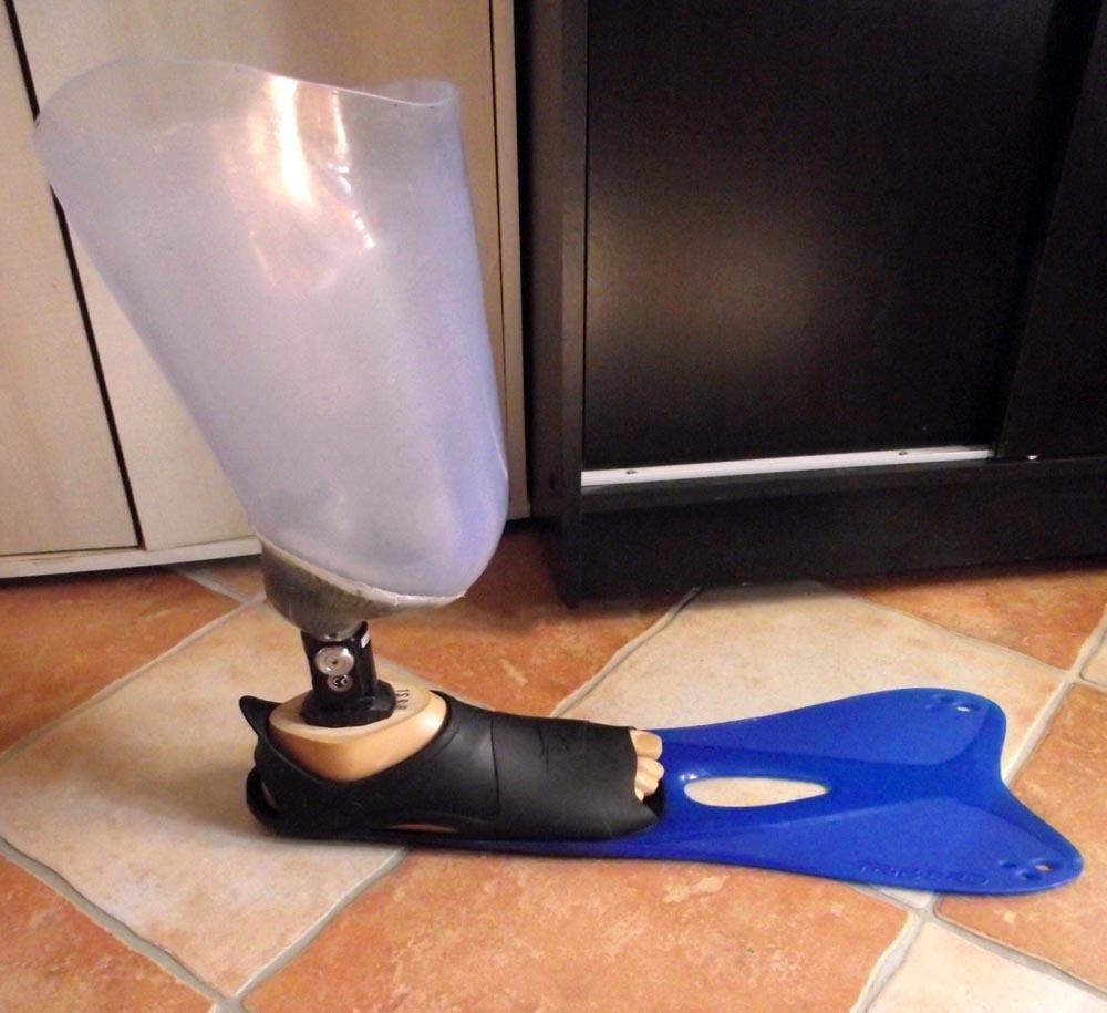 mise au point de prothèse nage 1308ds11
