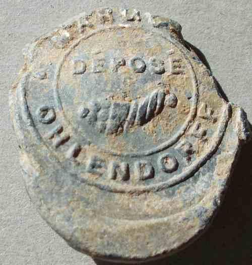 Plomb d'un sac de guano de la marque Ohlendorff. 7910