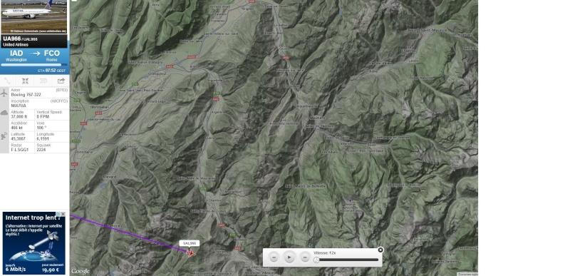 2013: le 05/08 à 05h00 - objet lumineux en forme de Y retournéOvni en Forme de triangle - Hautecour - Savoie (dép.73) Boeing10