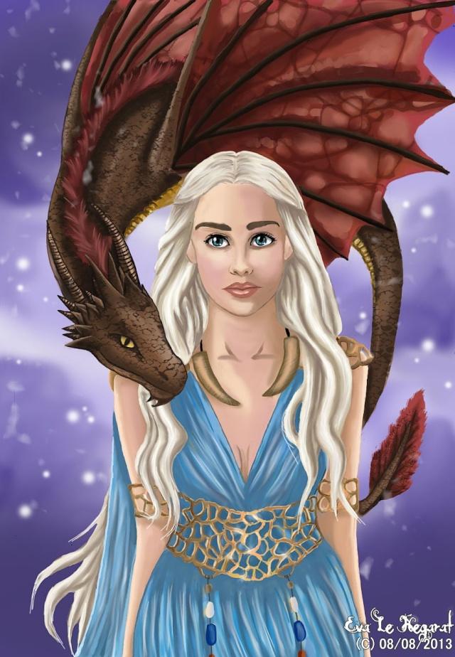 Daenerys Digital paint' [evapowa] Daegg15