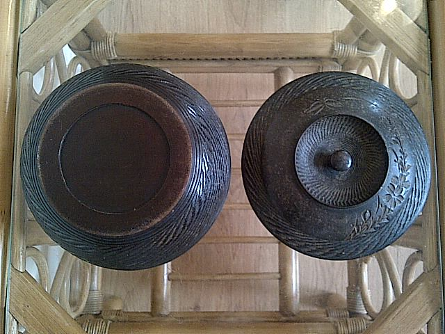 treen dish server with lid, where is this bowl with lid from? Img-2145