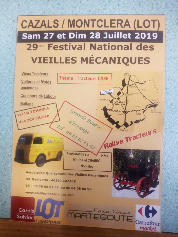 festival des vieilles mécaniques de Cazals  201910
