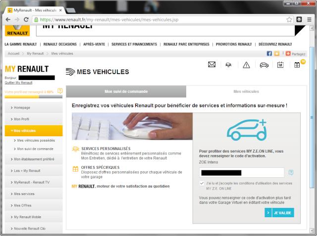 site renault.fr impossible de trouver le lien: MY ZE ON LINE Zoe_0013