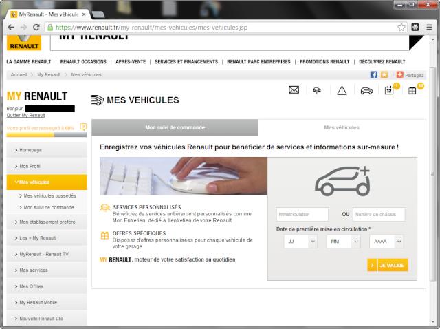 site renault.fr impossible de trouver le lien: MY ZE ON LINE Zoe_0014
