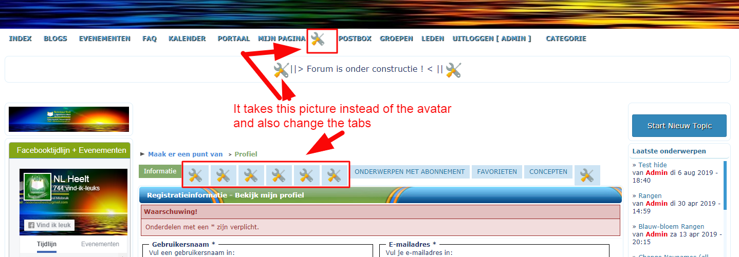Show profile on the navigation bar Navbar10