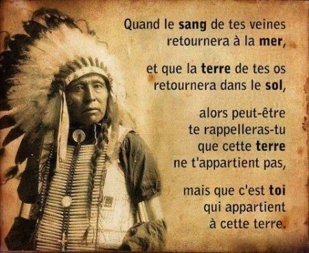 La sagesse des Indiens d'Amérique que l'on appelle des sauvages a médité 0303b410