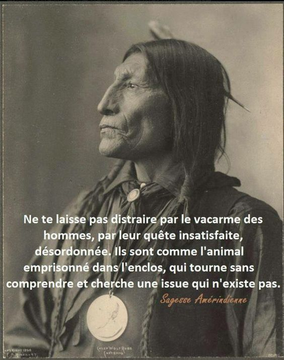 La sagesse des Indiens d'Amérique que l'on appelle des sauvages a médité 0f172110