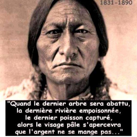 La sagesse des Indiens d'Amérique que l'on appelle des sauvages a médité 1e210411