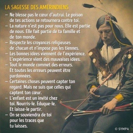 La sagesse des Indiens d'Amérique que l'on appelle des sauvages a médité 4ad2c910