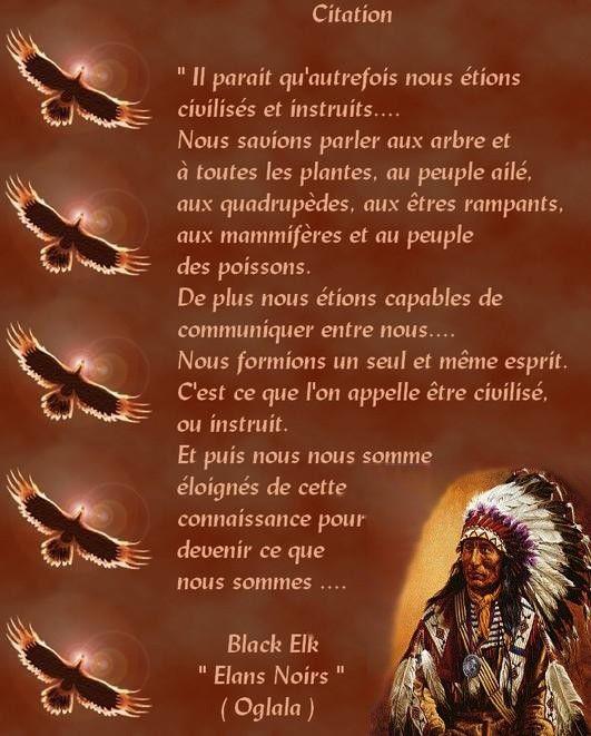 La sagesse des Indiens d'Amérique que l'on appelle des sauvages a médité 9914e010
