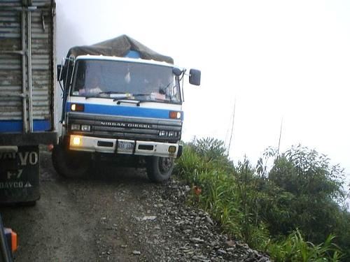 Route de la mort, en Bolivie Croise10