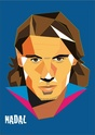 Portraits top players + federer Nadal11