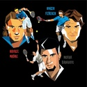 Portraits top players + federer Tennis11