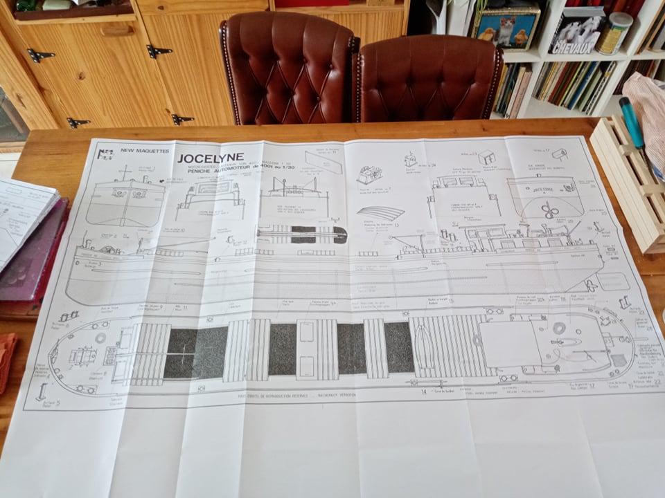 Péniche Jocelyne (Plan New Maquettes) de Papyraphy Plan110