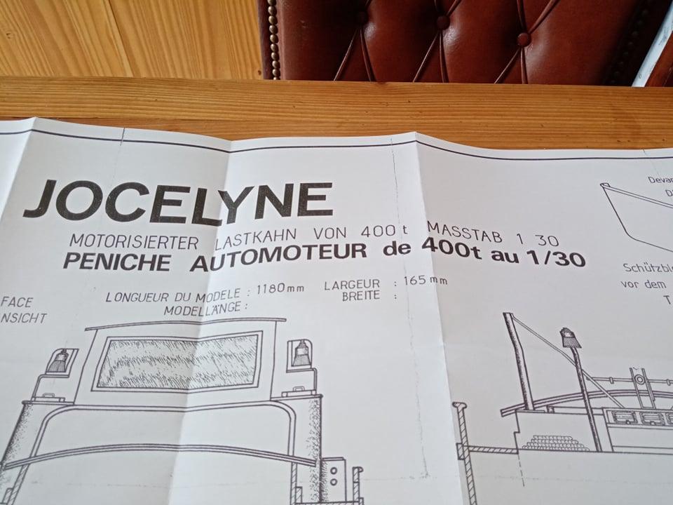 Péniche Jocelyne (Plan New Maquettes) de Papyraphy Plan210