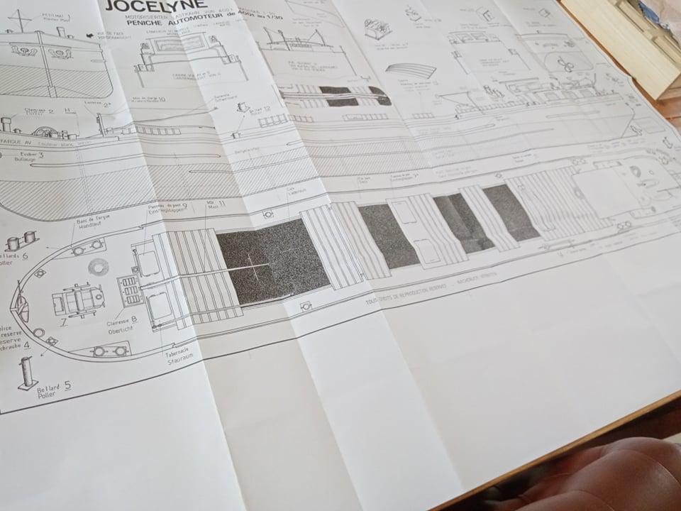 Péniche Jocelyne (Plan New Maquettes) de Papyraphy Plan310