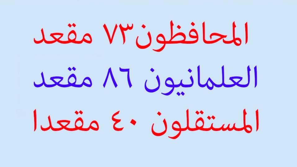 نتائج انتخبات تونس التشرعية  07-10-12