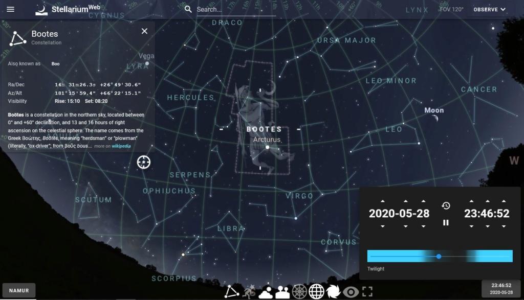 Stellarium Web 1a16