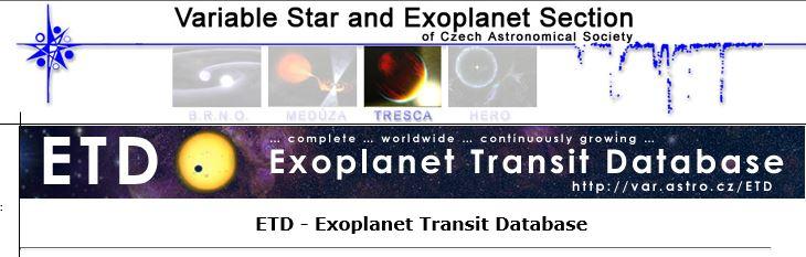 ETD - Exoplanet Transit Database 310