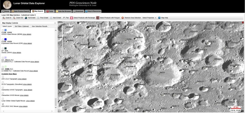 Lunar Orbital Data Explorer Lll11