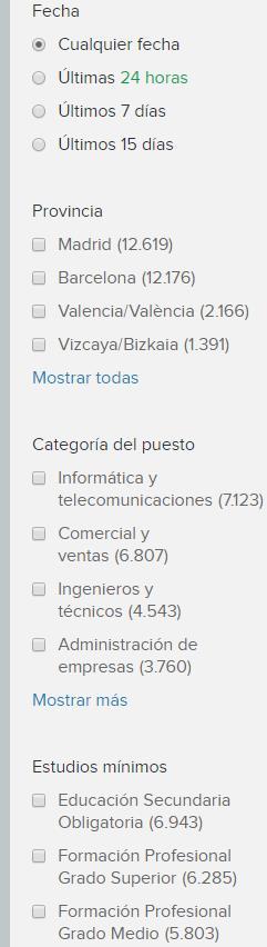 Candidaturas en Infojobs 311