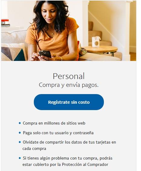 Procesador de Pago: Paypal Regist11