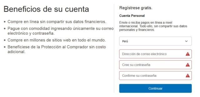 Procesador de Pago: Paypal Regist12