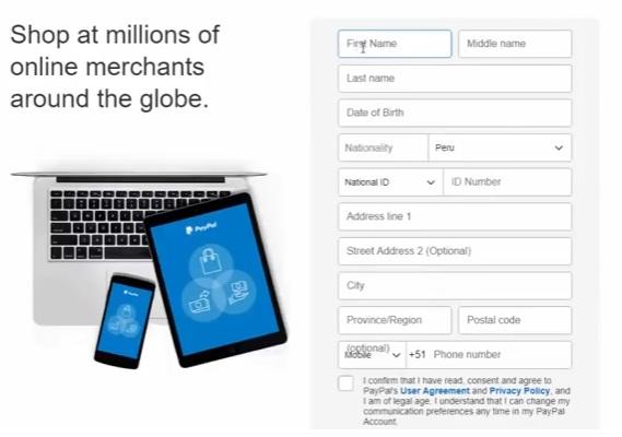 Procesador de Pago: Paypal Regist13