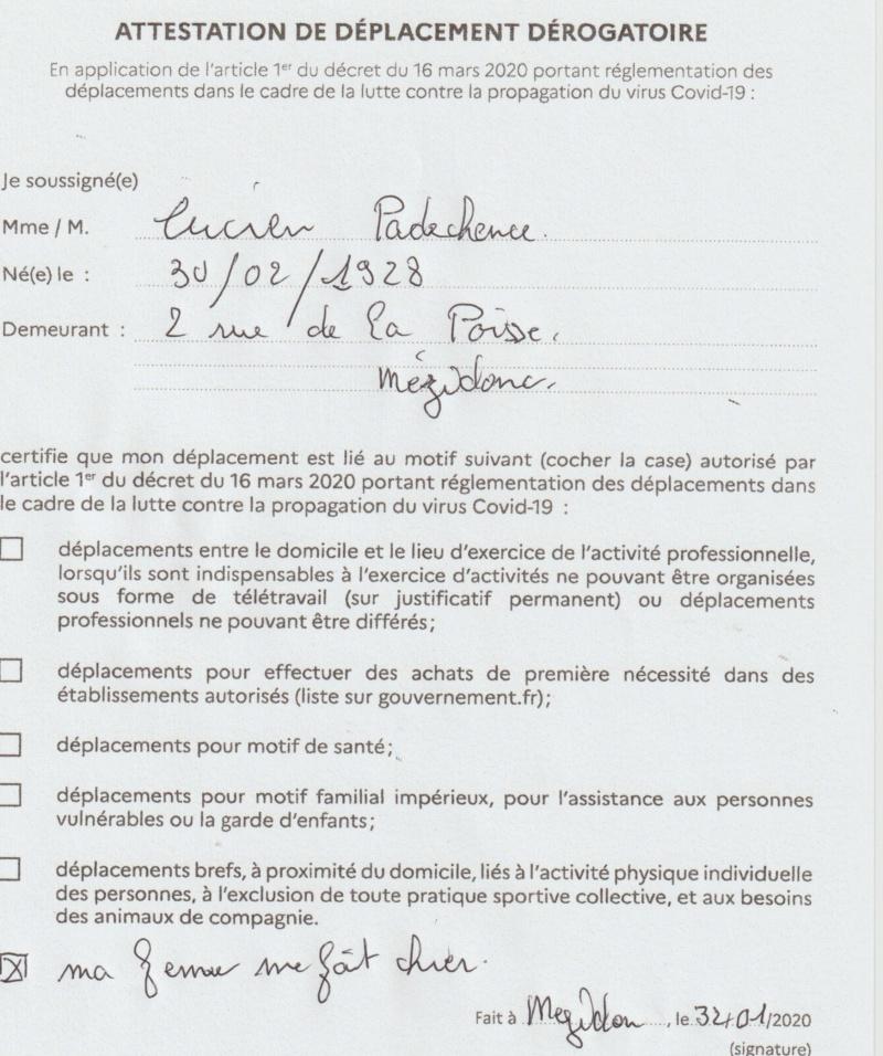 Mars 2020 : attestation de déplacement dérogatoire - Page 4 Chier10