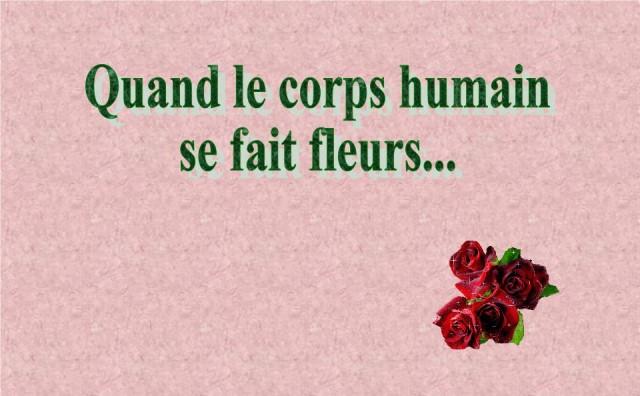 Le corps humain en fleurs * G_0115