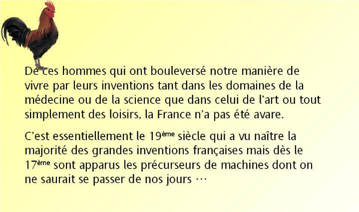L´histoire des inventions françaises * G_0284