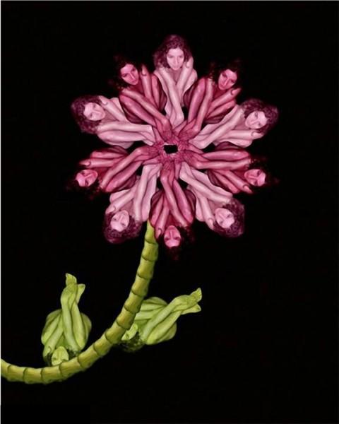 Le corps humain en fleurs * G_0414