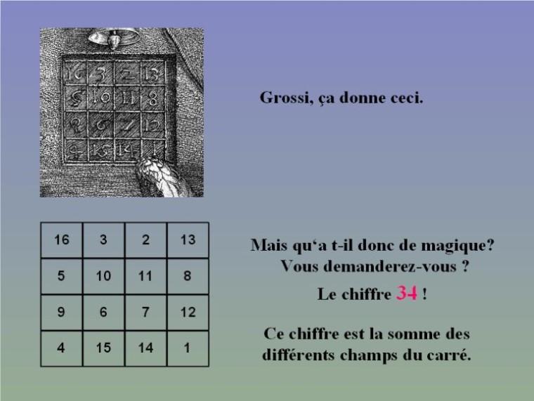 Carré magique de Durer G_0455
