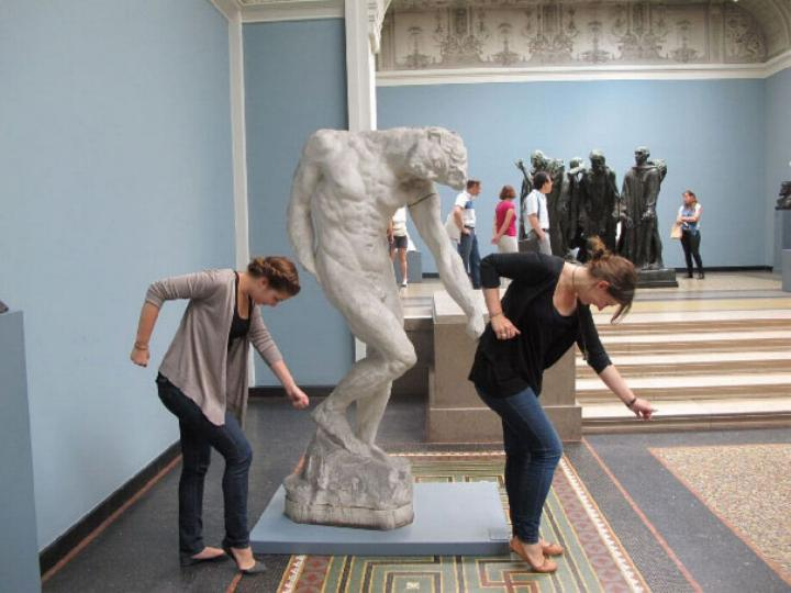 .Amusement avec des statues * G_0838