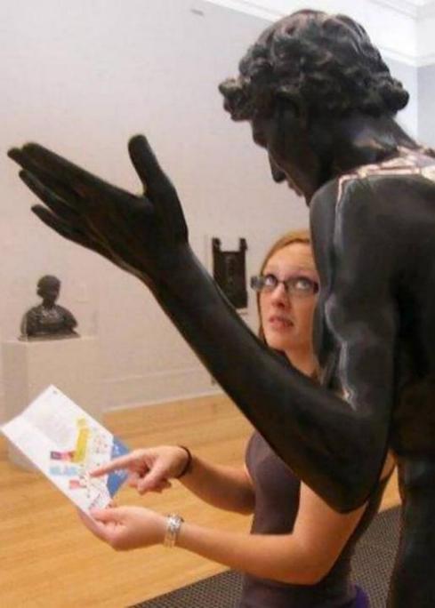 .Amusement avec des statues * G_1830