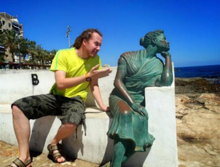 .Amusement avec des statues * G_1926