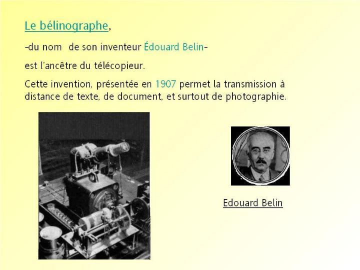 L´histoire des inventions françaises * G_2245