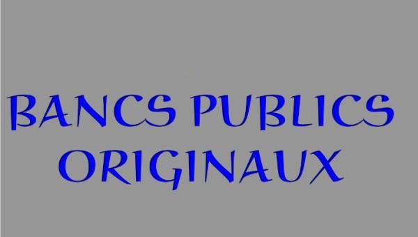 Bancs publics originaux * X_01130