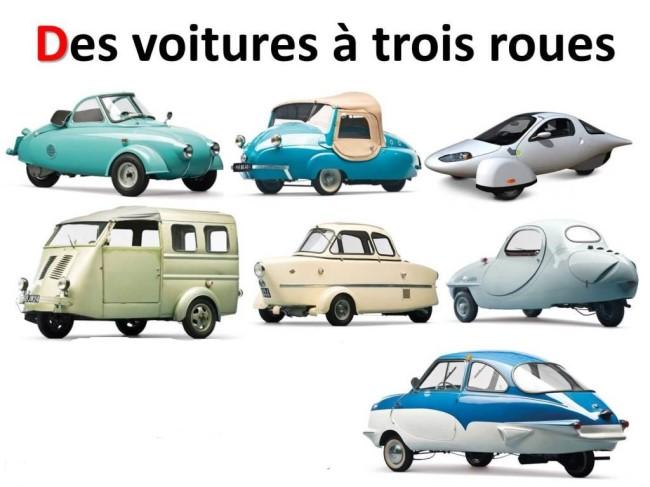 Des voitures à trois roues X_01184