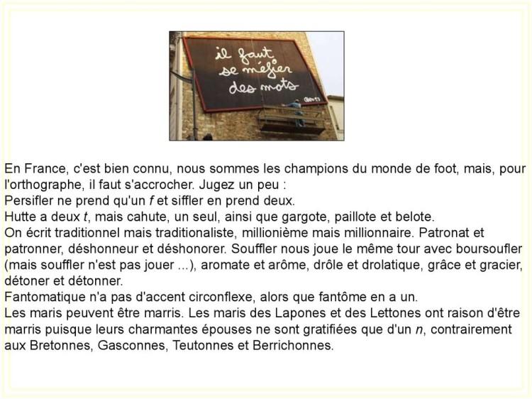 Cocasseries de la langue française * X_03163