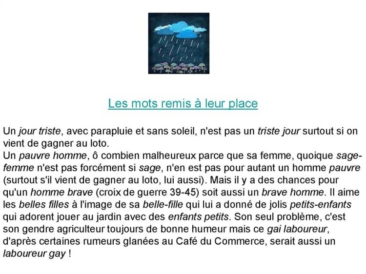 Cocasseries de la langue française * X_11144