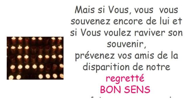 Décès de Bon Sens * X_13174