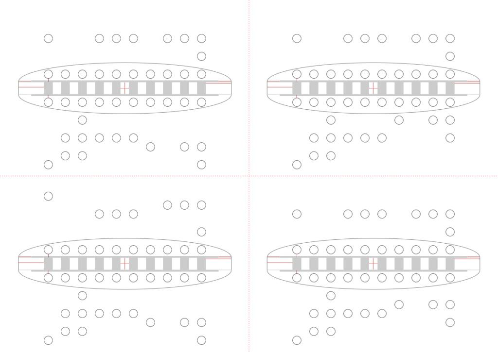 Visualisation de l'harmonica par degrés A4_sch10