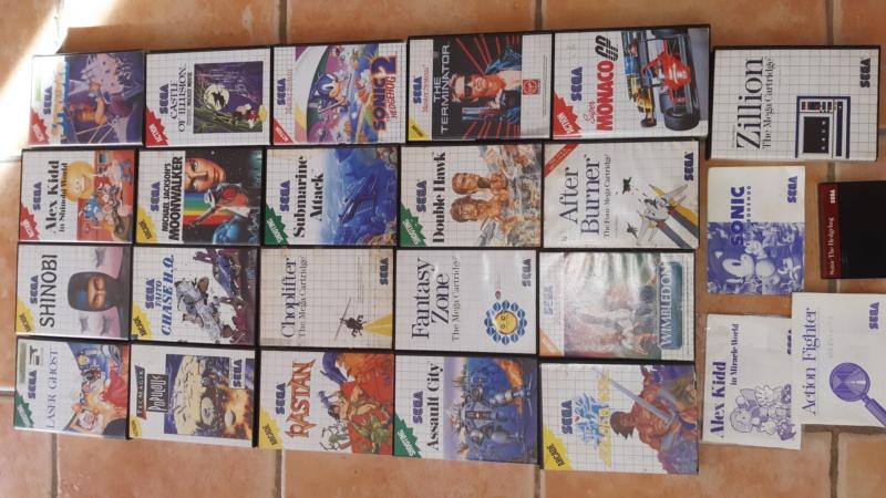(vendu ) Gros lot de 22 jeux master system !! (PRIX EXCLU pour fêter ouverture C.S ) 20201144