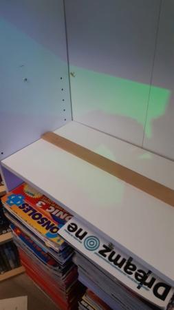 Disposition des boites de jeu sur la bonne profondeur d'une tablette 20210640