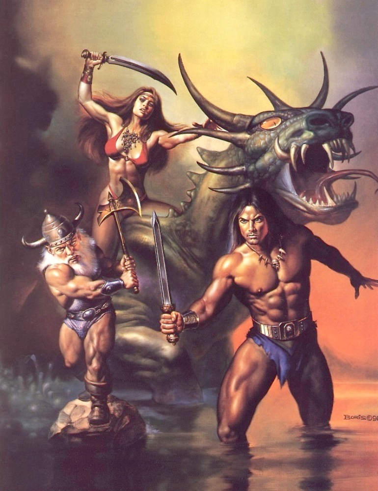 Boris Vallejo & Julie Bell : le couple artistes peintres du gaming ! 91-bor10