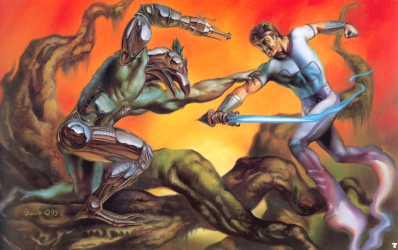 Boris Vallejo & Julie Bell : le couple artistes peintres du gaming ! 93-jul10